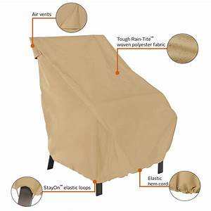 classic accessories terrazzo high back patio chair cover With patio furniture covers amazon ca