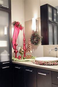 17 best images about christmas powder room on pinterest With holiday bathroom decorating ideas