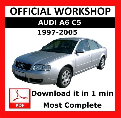 car maintenance manuals 1999 audi a6 electronic toll collection gt gt official workshop manual service repair audi a6 c5 1997 2005 5010960134474 ebay