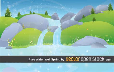 spring landscape wallpaper vector  vector art