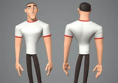 Cartoon Male Character Luke Models Cgtrader