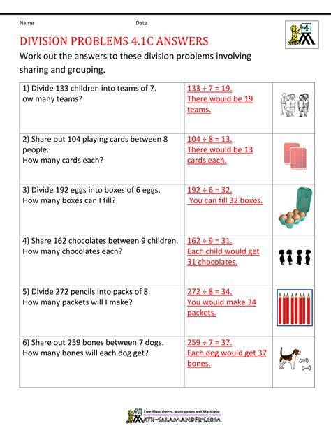 division worksheets grade