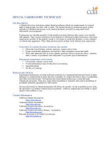 resume dental lab technician resume sle laboratory technician resume sles sle resume for pathology lab technician