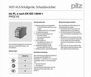 Schaltplan Pilz Pnoz X3