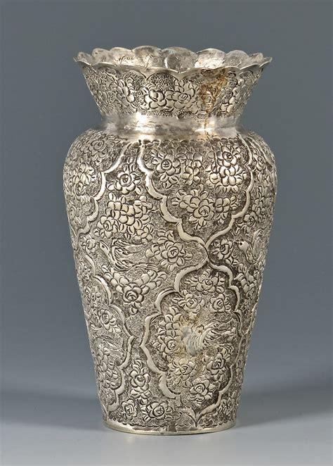 lot  kashmiri  indian silver vase