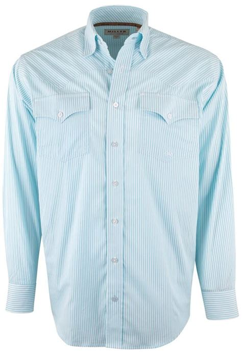 light blue and white striped shirt miller ranch light blue and white stripe shirt pinto ranch