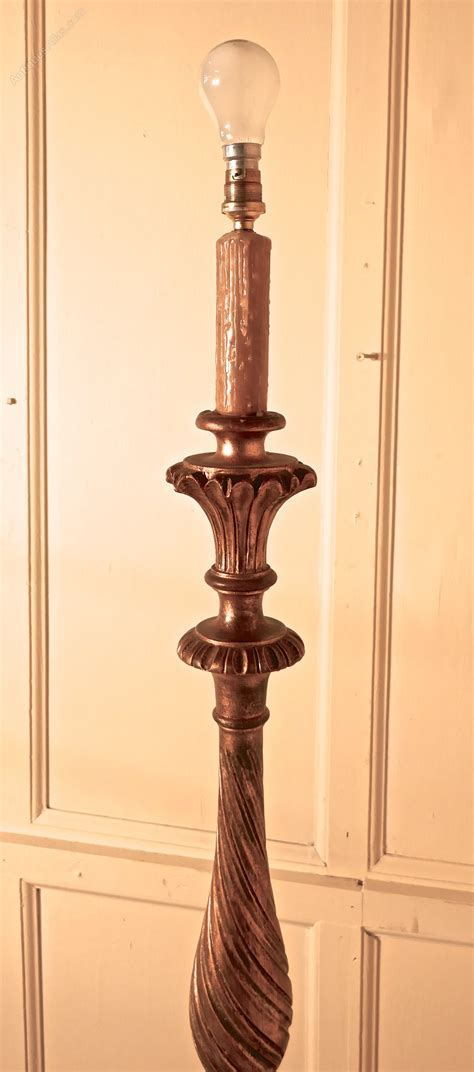 Antiques Atlas   French Turned Gilt wood Floor Standing Lamp