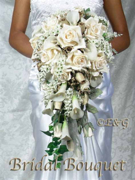 Beautiful Cream Gold Bouquet Wedding Bouquets Bridal