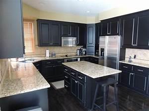 21 dark cabinet kitchen designs for Dark cabinet kitchen designs