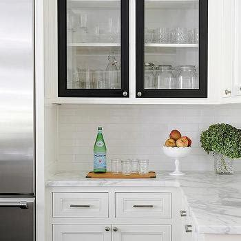 White Cabinets With Black Trim Design Ideas