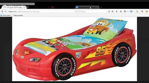 Tikes Lightning Mcqueen Toddler Bed by Tikes Lightning Mcqueen Toddler Bed Back