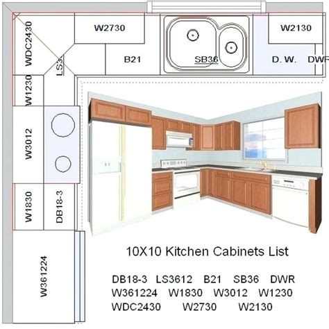 U Shaped Kitchen Layout Ideas - 10x10 kitchen floor plans besto blog