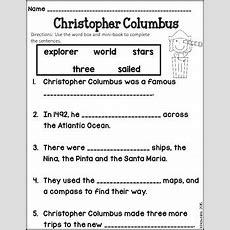 Christopher Columbus Minibook And Worksheet By The Hawk's Nest Tpt