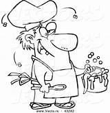 Stew Cartoon Coloring Chef Vector Outline Stinky Gross Serving Template Ron Getdrawings Leishman sketch template