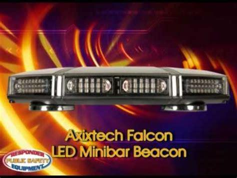 falcon led light bar axixtech falcon minibar f86 60 led warning light how to