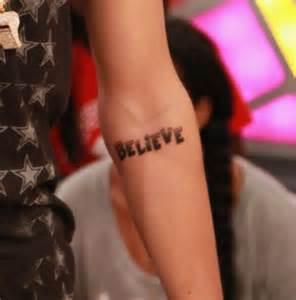 Justin Bieber Believe Tattoo