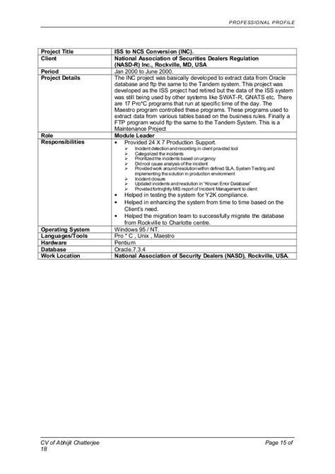 resume second page header sle danaya us