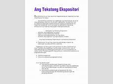 Ang Tekstong Ekspositori