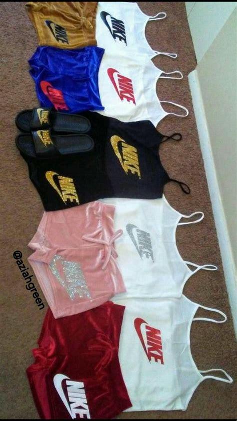 Shorts velvet nike nikes tank top outfit - Wheretoget