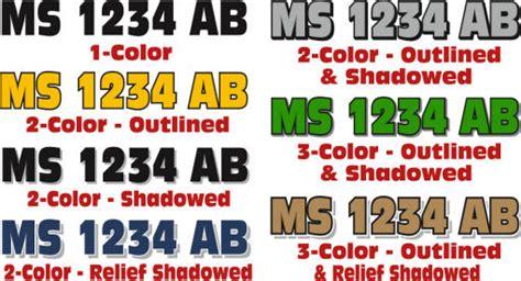 Custom Vinyl Boat Registration Numbers by Custom Boat Registration Numbers From The Vinyl Approach