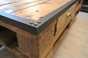 Table Basse Palettes : wandgestaltung wohnzimmer comment faire une table basse ~ Melissatoandfro.com Idées de Décoration