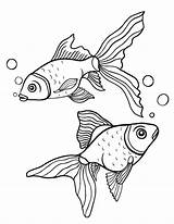 Goldfish Coloring Pages Fish Printable Pdf Patterns Coloringcafe Adult Colouring Gold Drawing Print Sheet Drawings Painting Sheets Adults Mermaid 02kb sketch template