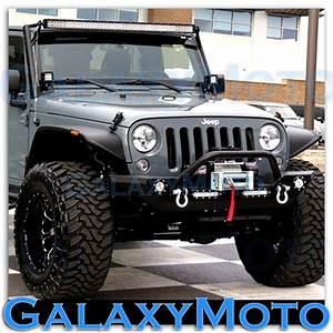Jeep led flood lights : Jeep jk wrangler quot led light bar combo x