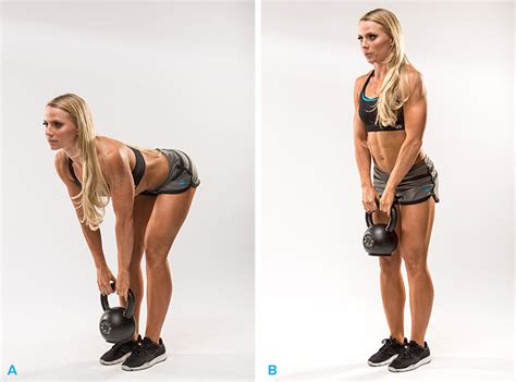 kettlebell kettlebells deadlift exercises fat ripped ladies burn bring rear try bodybuilding muscle glutes gymguider