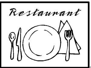 restaurant  ausmalbild malvorlage objekte