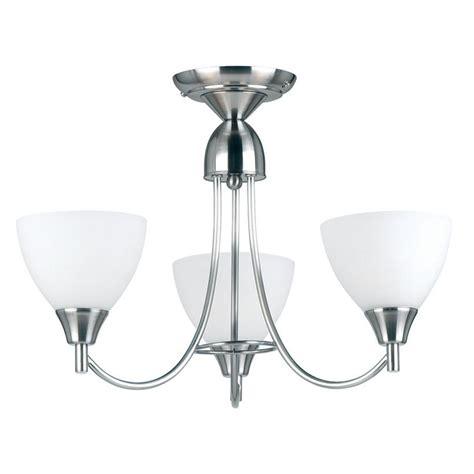 endon lighting 1805 3sc chrome semi flush ceiling light