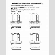 Worksheet Density Drill And Practice 1 By Travis Terry Tpt