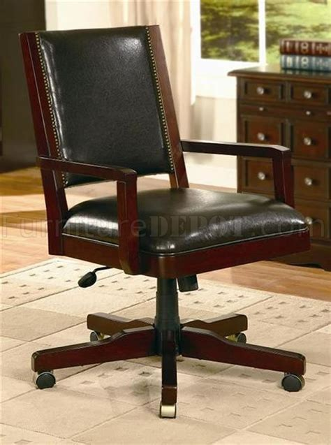 vinyl fabric office chair w wood frame