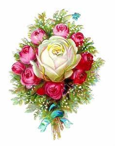 Antique Images: Vintage Flower Clip Art: Victorian Die Cut ...