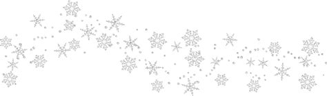 Transparent Background Snowflake Border by Snowflakes Snowflake Clipart Transparent Background Free 2