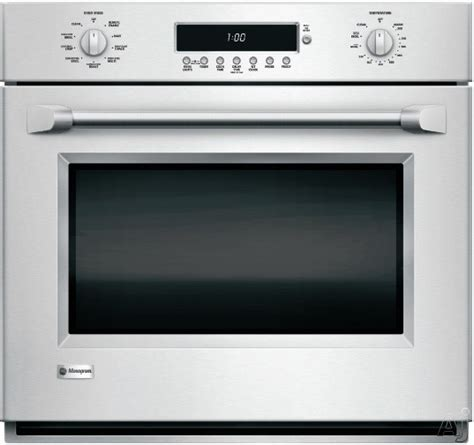 ge monogram zetxhss  single electric wall oven   cu ft true european convection
