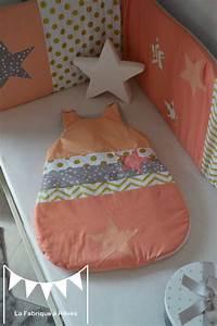 Gigoteuse été Fille : gigoteuse 0 6 mois b b fille abricot corail dor gris toiles chevron pois photo de ~ Teatrodelosmanantiales.com Idées de Décoration