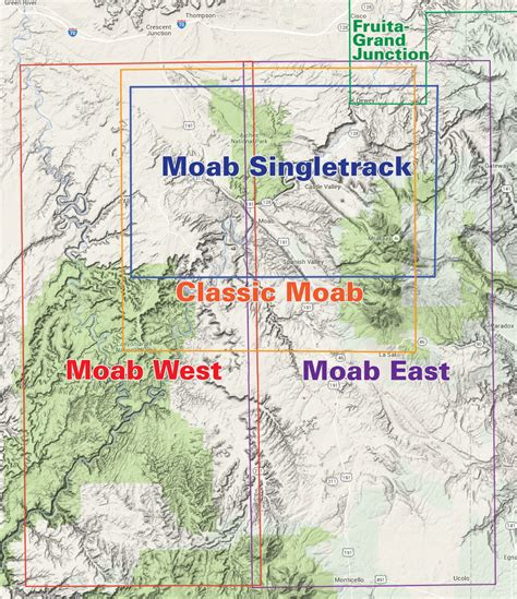 moab jeep trails map moab west trails utah recreation topo map latitude 40