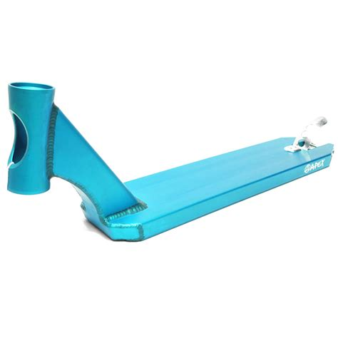 Best Pro Scooter Decks by Apex Pro Scooter Deck 600mm Turquoise Scooter Decks