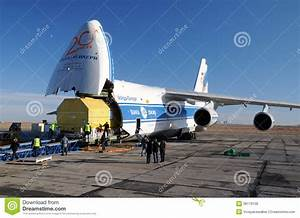 AN-124 Unloading editorial stock photo. Image of container ...