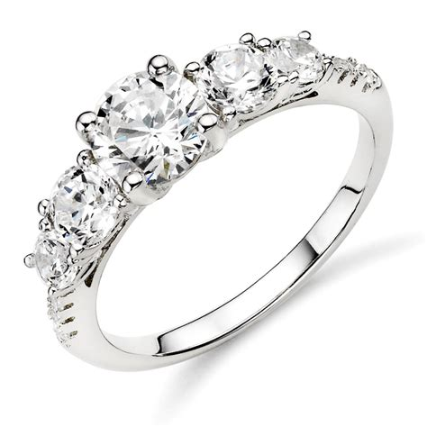 luxurious collections of silver wedding rings