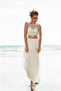 beach wedding brides rejoice the crop top is back With bikini wedding dress