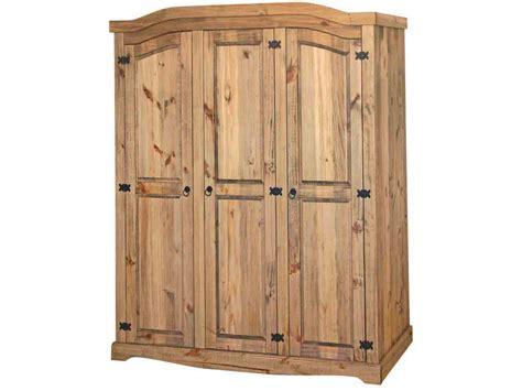 Mexican Pine 3 Door Wardrobe by Premium Quality Corona Waxed Solid Mexican Pine 3 Door