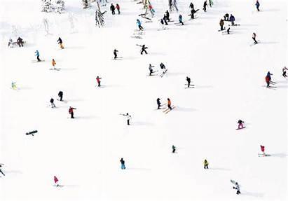 Gray Malin Ski Above Abstract Aspen Mountain