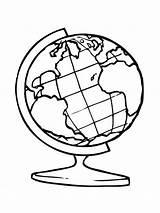 Globe Coloring sketch template
