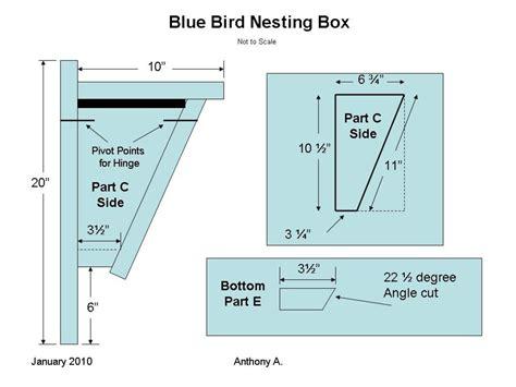 bluebird nest box plans build peterson bluebird house slant front style hubpages