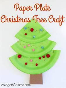 Paper, Plate, Christmas, Trees, U2022, Midgetmomma