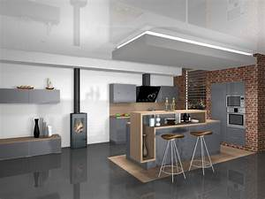 conception de cuisine design a merignac cuisines areane With photo de cuisine design