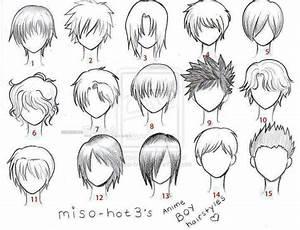anime hair boy template anime love pinterest anime With manga character template