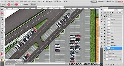 Parking Layout Plan Photoshop Render Site Textures