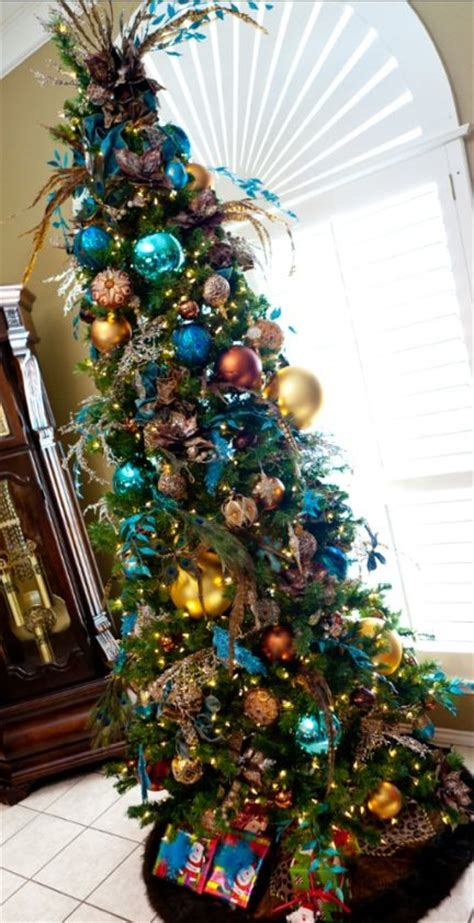 leopard  turquoise christmas decor christmas decor